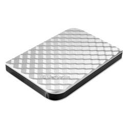 Verbatim Store N Go Portable Hard Drive, USB 3.0, 1 TB, Diamond Silver