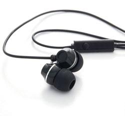 Verbatim Ear Phones w/Microphone, Stereo, Black