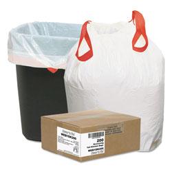 Webster Heavy-Duty Trash Bags, 13 gal, 0.9 mil, 24.5 in x 27.38 in, White, 200/Box